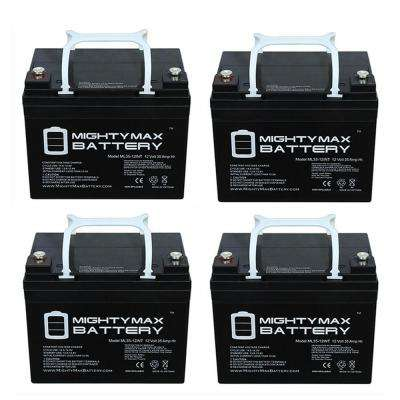 12-Volt 35 Ah SLA (Sealed Lead Acid) AGM Internal Medical Mobility Replacement Battery (4-Pack)
