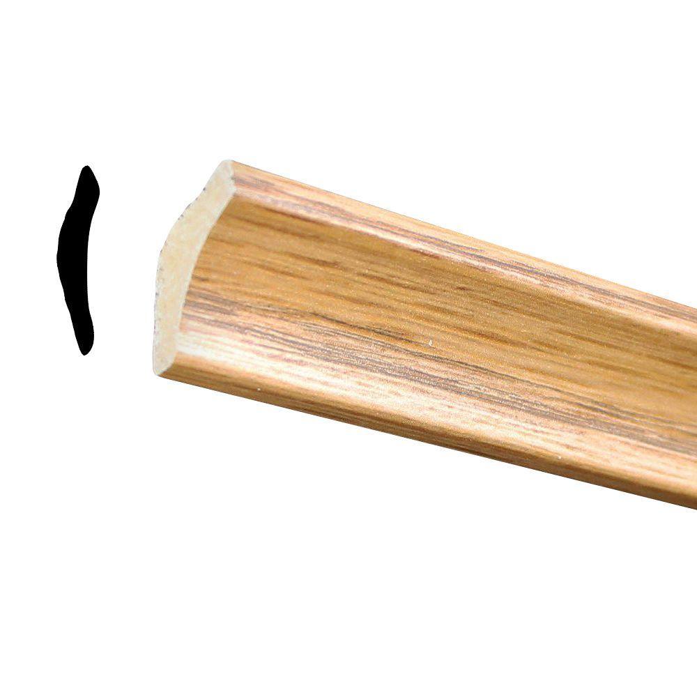 11/16 in. x 11/16 in. x 96 in. Polystyrene Ultra Oak