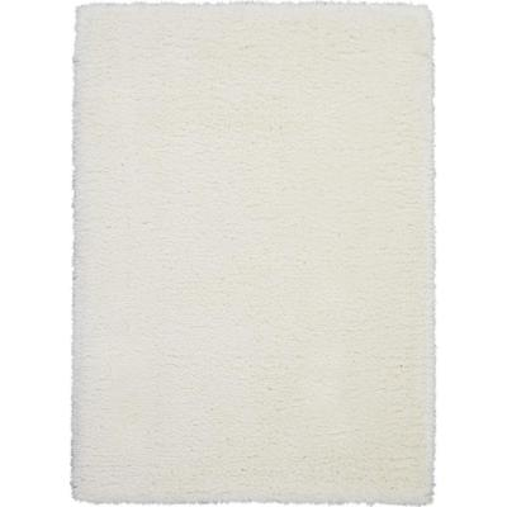 Ultra Plush Shag 9' x 12' White Plush Area Rug
