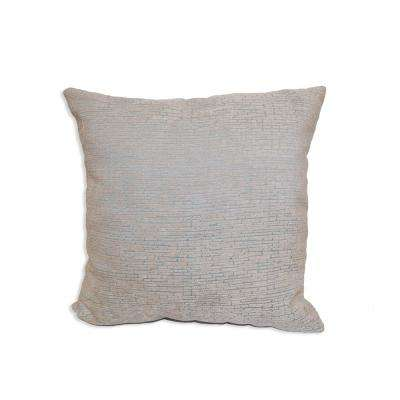 Distressed Chenille Aqua Decorative Pillow