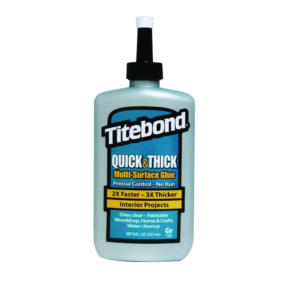 Titebond 8 Oz Quick And Thick Multi Surface Glue 12 Pack