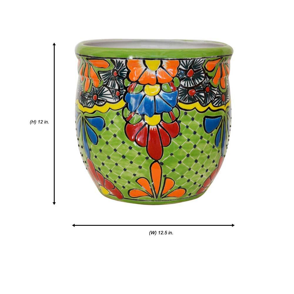 Remarkable Ravenna Pottery Talavera 12 1 2 In Round Ceramic Pot B 3 Machost Co Dining Chair Design Ideas Machostcouk