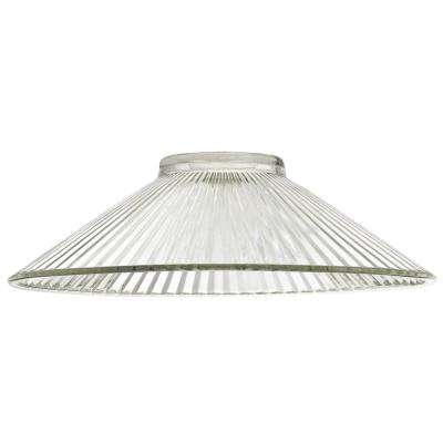 2-15/16 in. Clear Ribbed Shade with 2-1/4 in. Fitter and 9-7/8 in. W