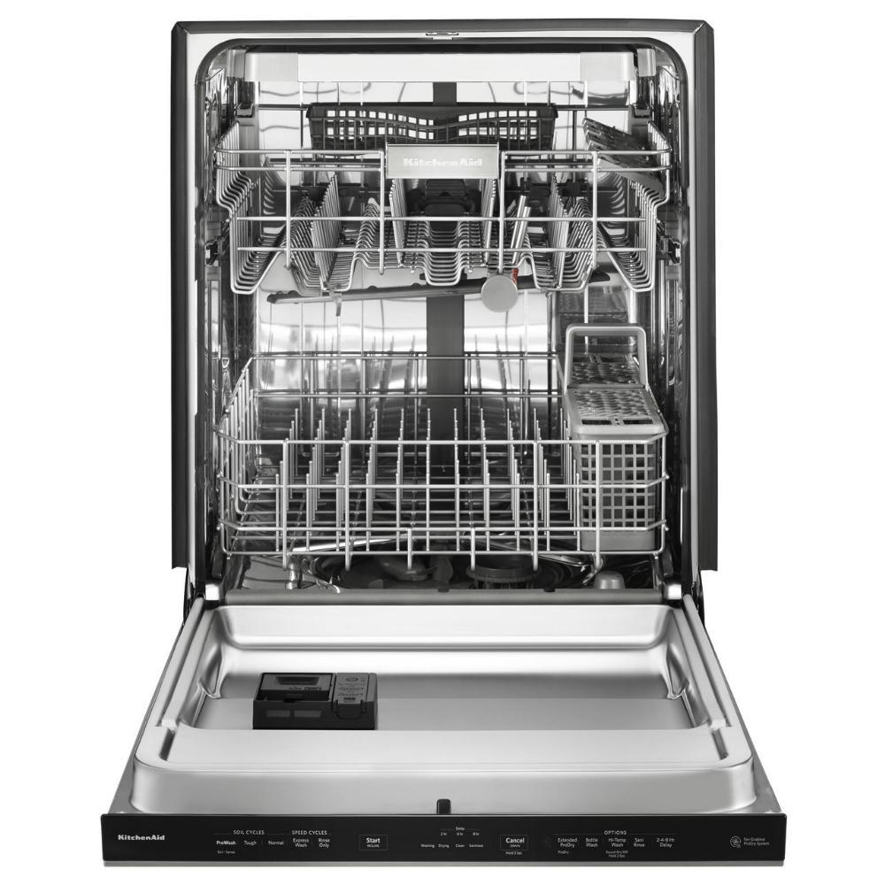 kitchenaid top control built in tall tub dishwasher in black rh homedepot com