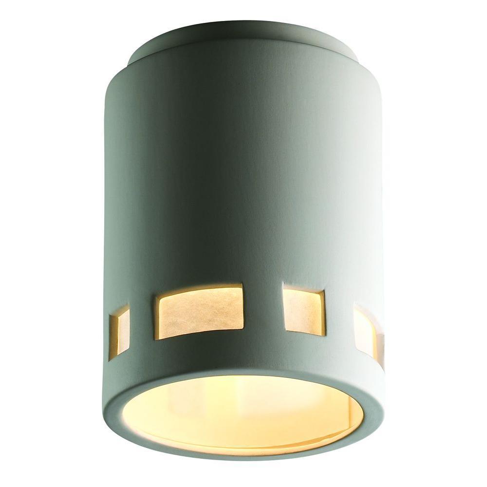 Filament Design Leonidas 1-Light Paintable Ceramic Bisque Ceiling Flushmount