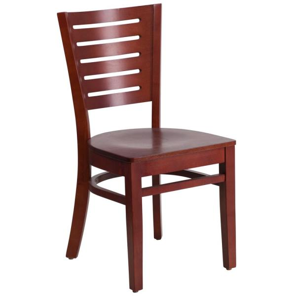 Flash Furniture Darby Mahogany Wood Seat/Mahogany Wood Frame Side Chair