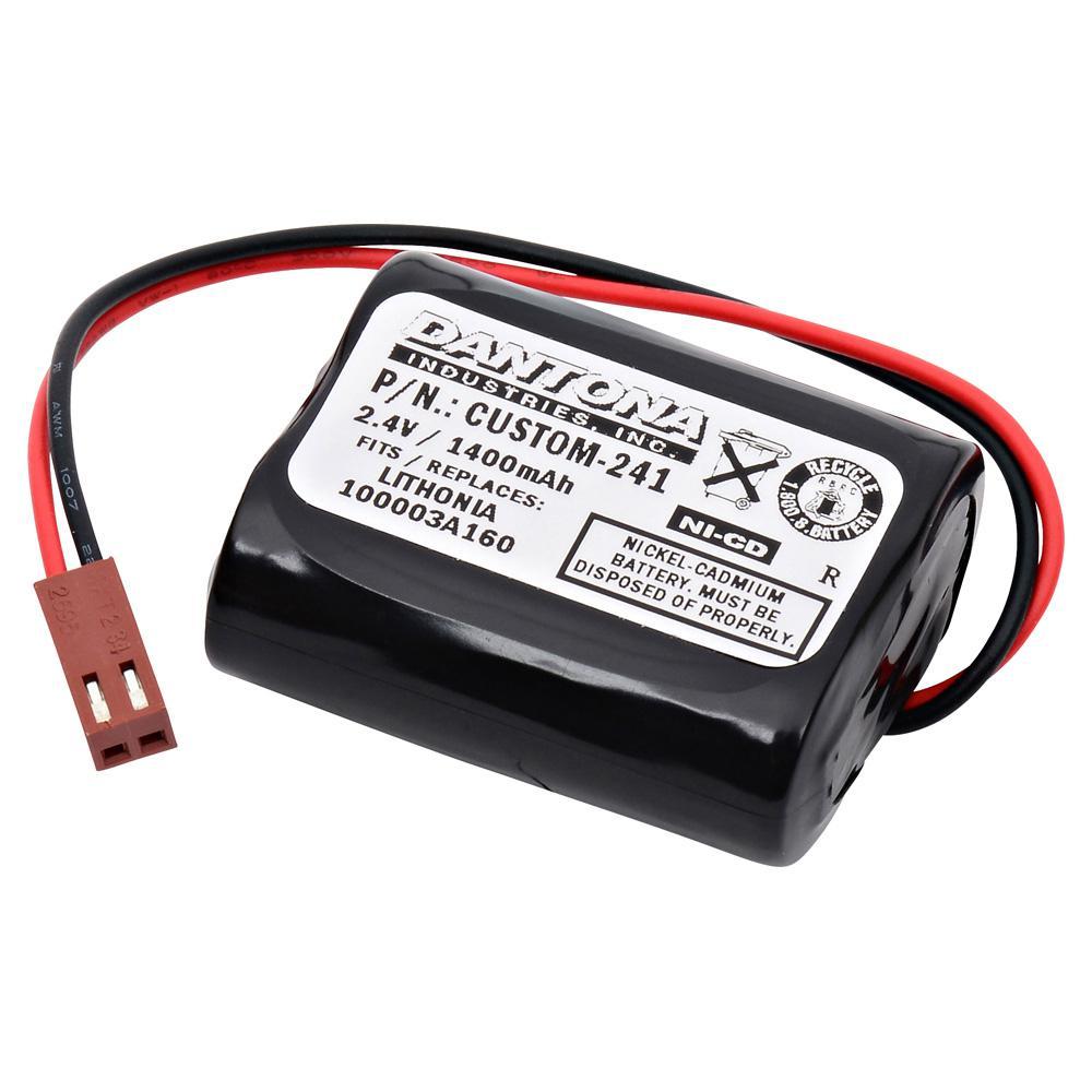 Dantona 2.4-Volt 1400 mAh Ni-Cd battery for Lithonia - 100003A160 Emergency