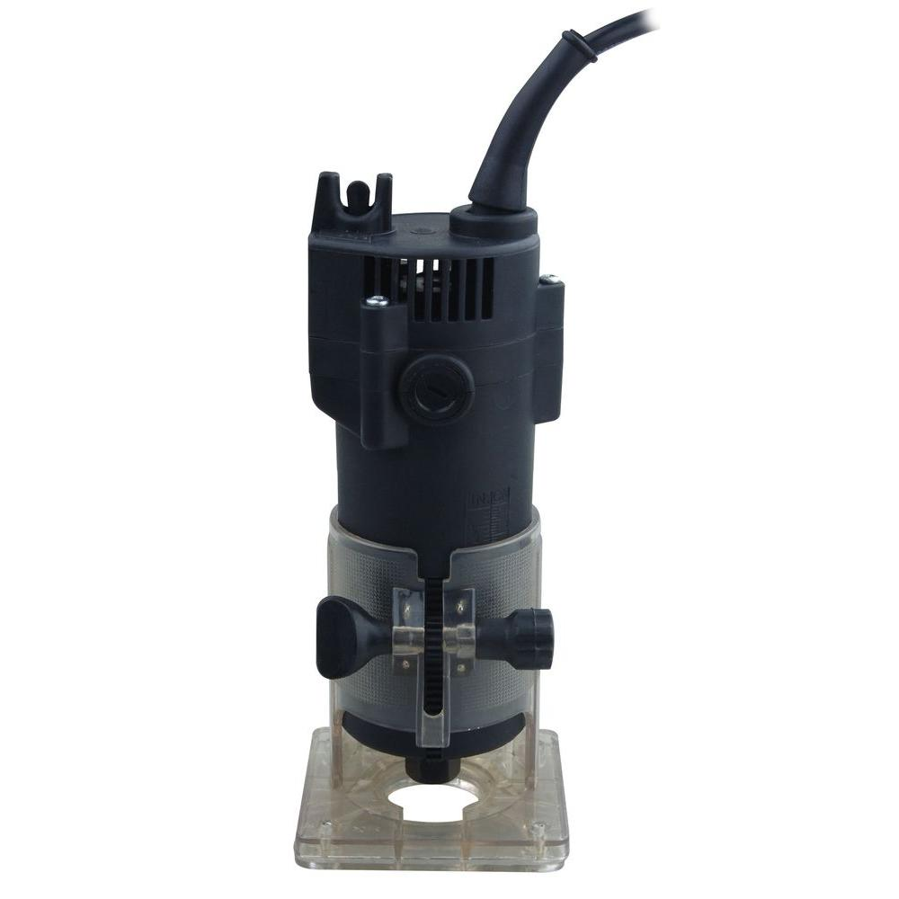 2.4 Amp Transparent Base Black Electric Power Tool New Laminate Trimmer 1//4 in