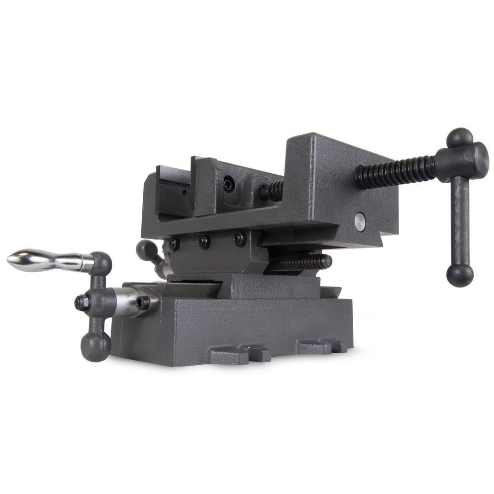 WEN 414CV 4-Inch Compound Cross Slide Industrial Strength Drill Press Vise
