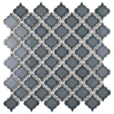 Hudson Tangier Imperial Grey 12-3/8 in. x 12-1/2 in. x 5 mm Porcelain Mosaic Tile