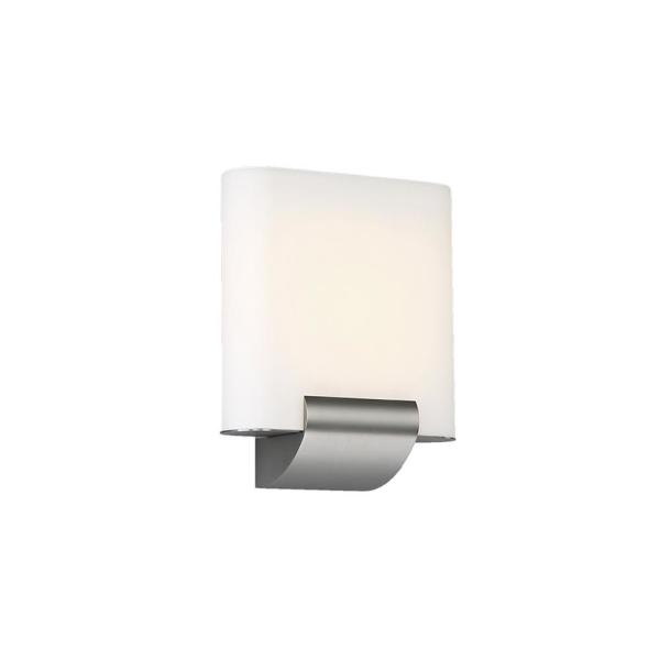 Coco 9 in. Satin Nickel LED Vanity Light Bar and Wall Sconce, 3000K