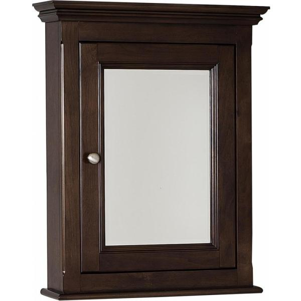 16-Gauge-Sinks 24 in. x 30 in. Surface-Mount Medicine Cabinet in Lacquer-Stain