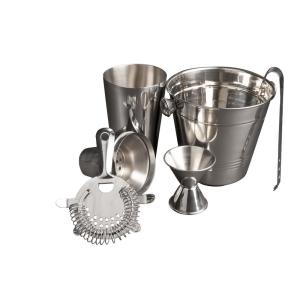 5-Piece Stainless Steel Cocktail Set and Drink Mixer by