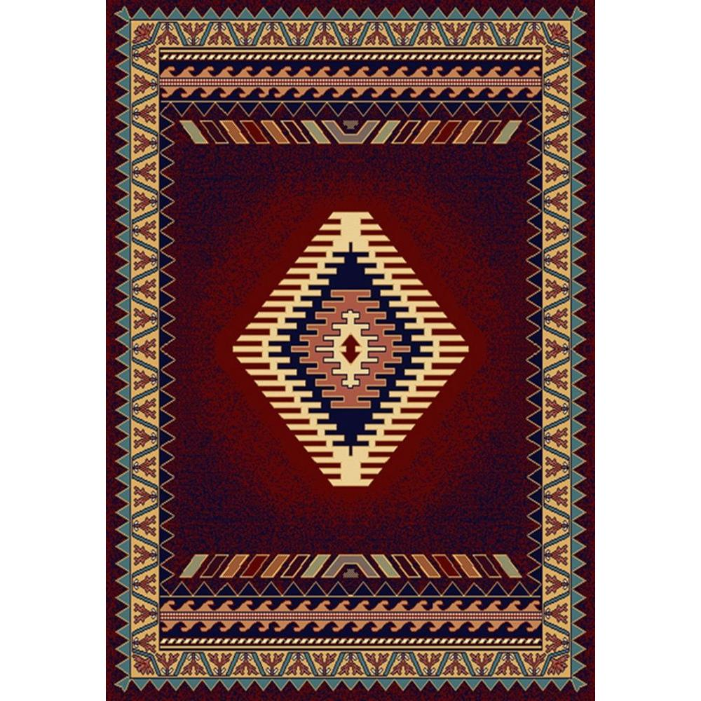 United Weavers Tuscan Burgundy 7 Ft. 10 In. X 10 Ft. 6 In