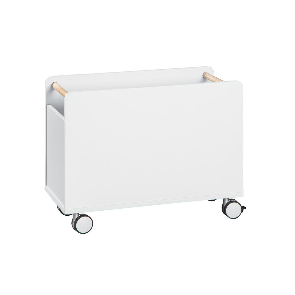 KidSpace 24 in. W x 19 in. H White 1-Cube Wheeled