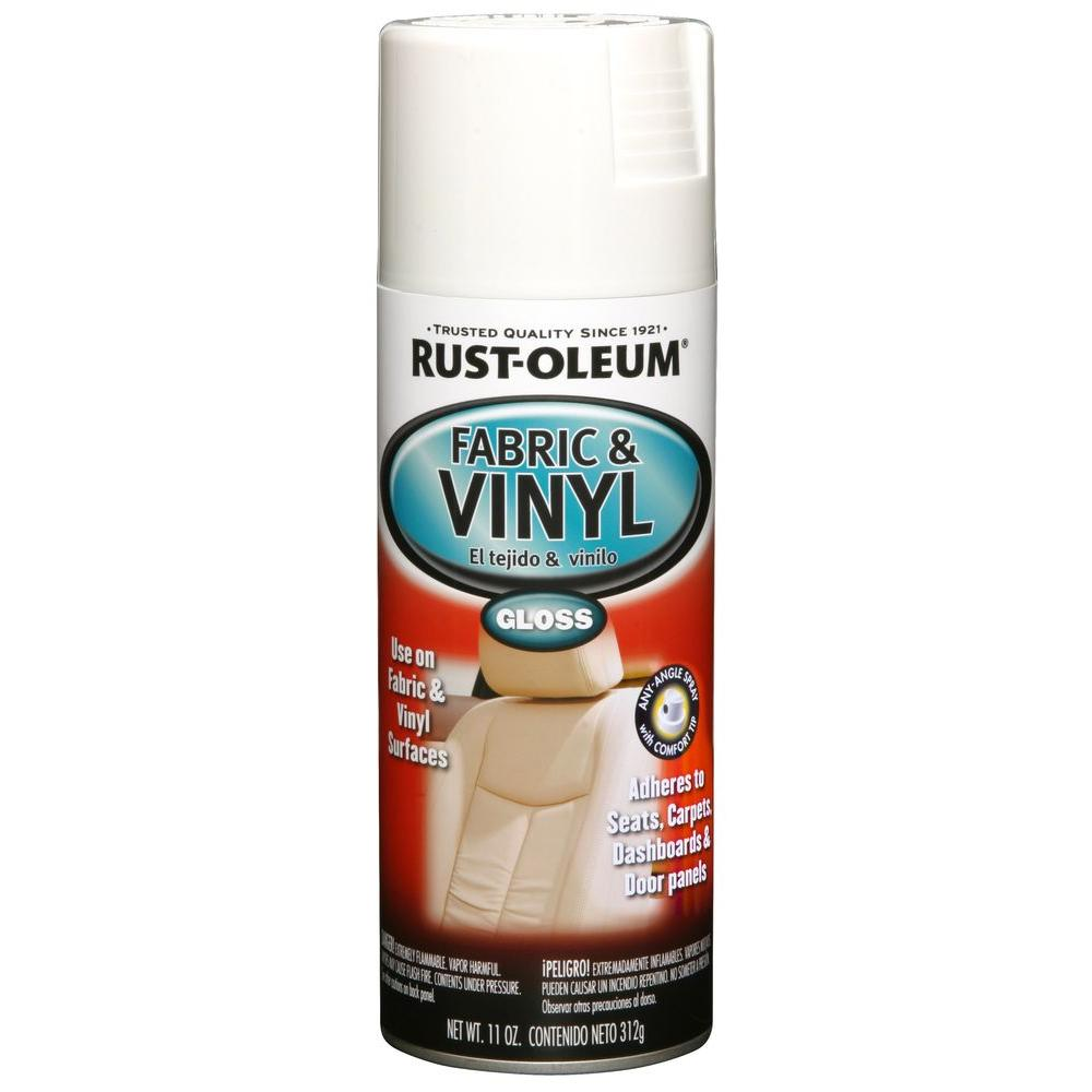 Rust-Oleum Automotive 11 oz. Gloss White Vinyl and Fabric...