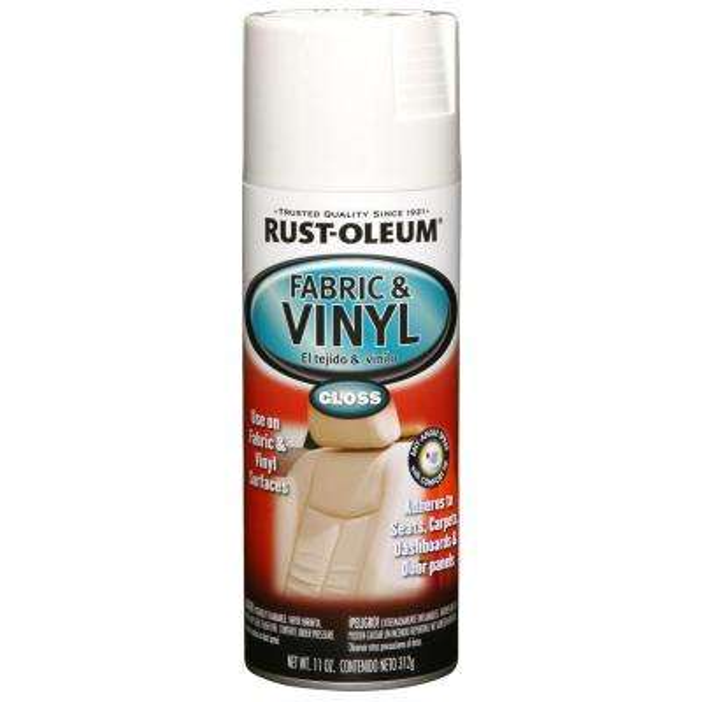 11 oz. Gloss White Fabric & Vinyl Spray (6-Pack)