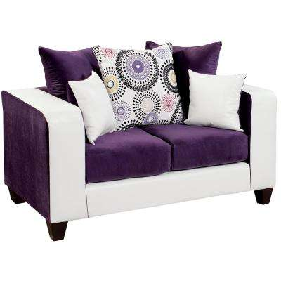Riverstone Implosion Purple Velvet Loveseat