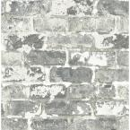 Grey WeatheRed Brick Vinyl Strippable Roll (Covers 30.75 sq. ft.)