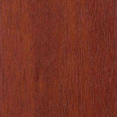4 in. x 3 in. Wood Garage Door Sample in Luan with Mahogany 045 Stain