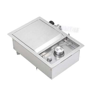 Stainless Steel Built-In Island Side Burner