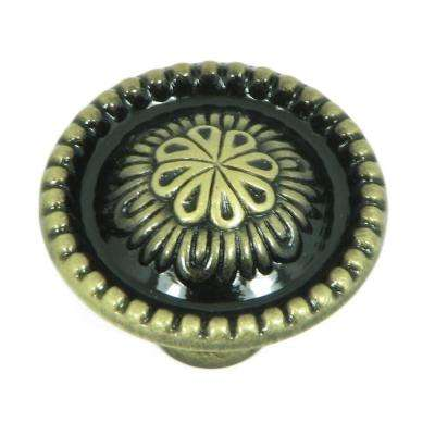 Acapulco 1-1/4 in. Antique Brass Round Cabinet Knob
