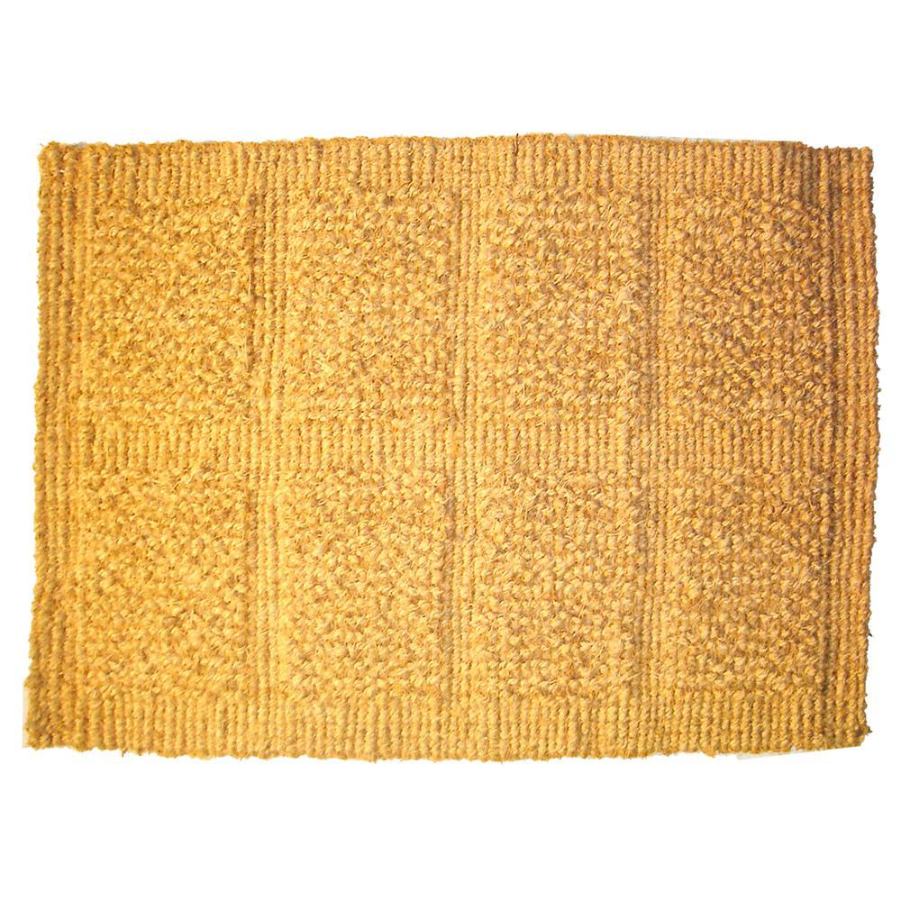 Click here to buy  14 inch x 24 inch Plain Tile Loop Coco Door Mat.