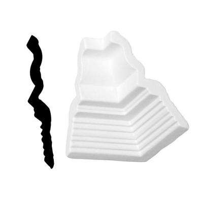 1/4 in. x 5 in. x 3-1/2 in. Primed Polyurethane Colonial Dentil Crown Inside Corner Moulding