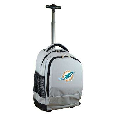 NFL Miami Dolphins 19 in. Gray Wheeled Premium Backpack