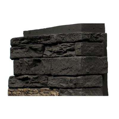 Slatestone Midnight Ash 4.5 in. x 12.75 in. Faux Stone Siding Corner (4-Pack)