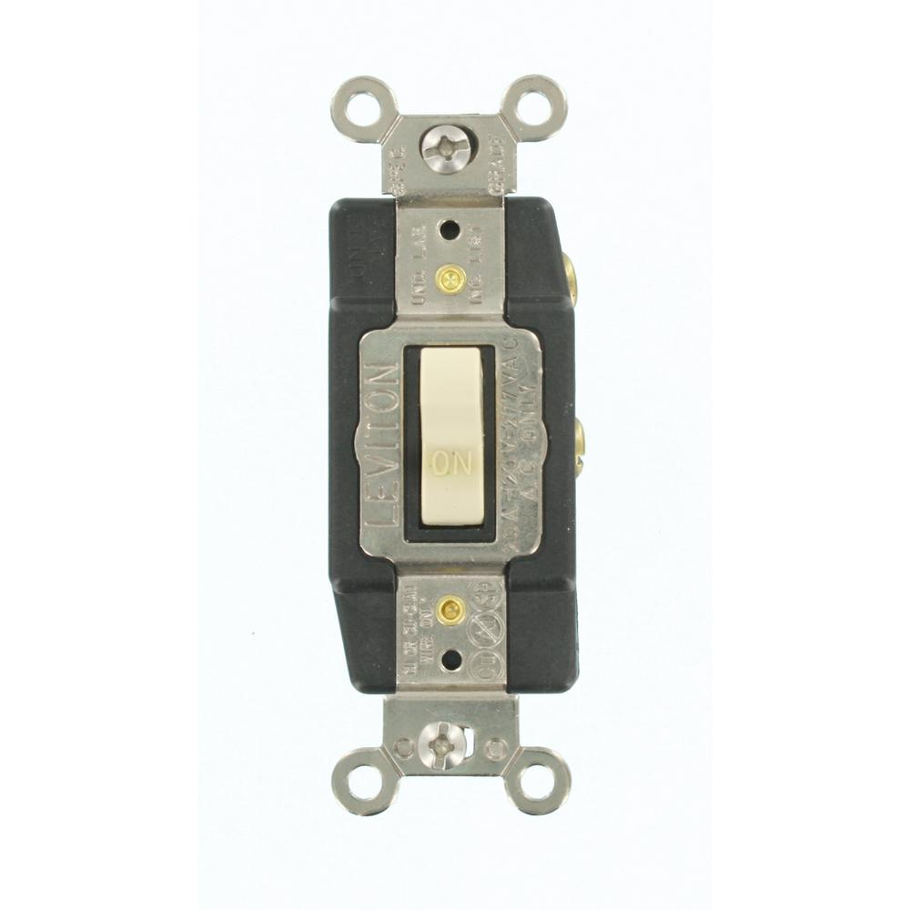 leviton 1285 l 20 amp 120 277 volt toggle single pole ac. Black Bedroom Furniture Sets. Home Design Ideas