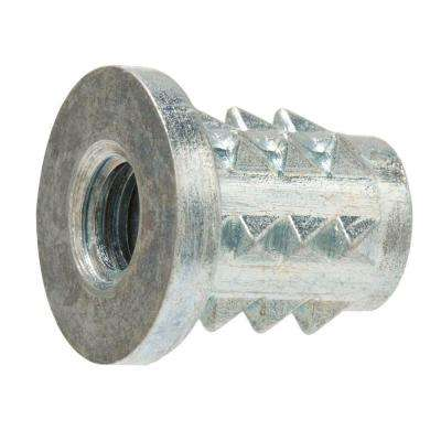 1/4 in. - 20 x 20 mm Zinc-Plated Steel Type-E Insert Nuts (4-Pack)
