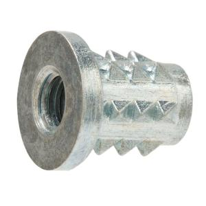 1/4 in. - 20 tpi x 12.5 mm Zinc-Plated Type B Insert Nut (4-Piece)