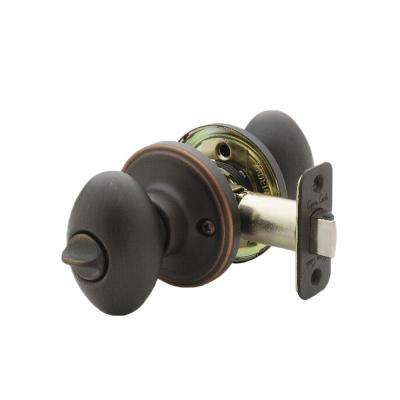 Egg Tuscan Bronze Privacy Bed/Bath Door Knob
