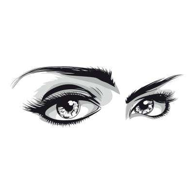 110.2 in. x 39.4 in. Eyes Wall Decal