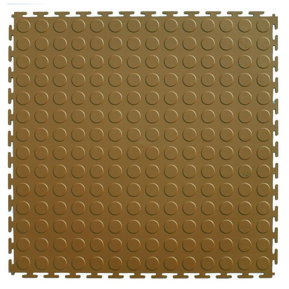 IT-tile 20-1/2 in. x 20-1/2 in. Coin Beige PVC Interlocking Multi-Purpose Flooring Tiles (23.25 sq. ft./case)