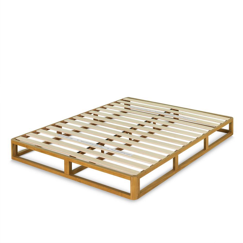 Wood 8 in. Queen Platforma Bed Frame