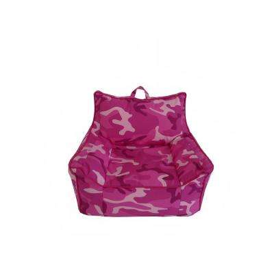 Pink Camouflage Cotton Canvas Structured Bean Bag