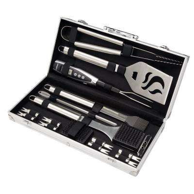 20-Piece Grilling Tool Set with Aluminum Case