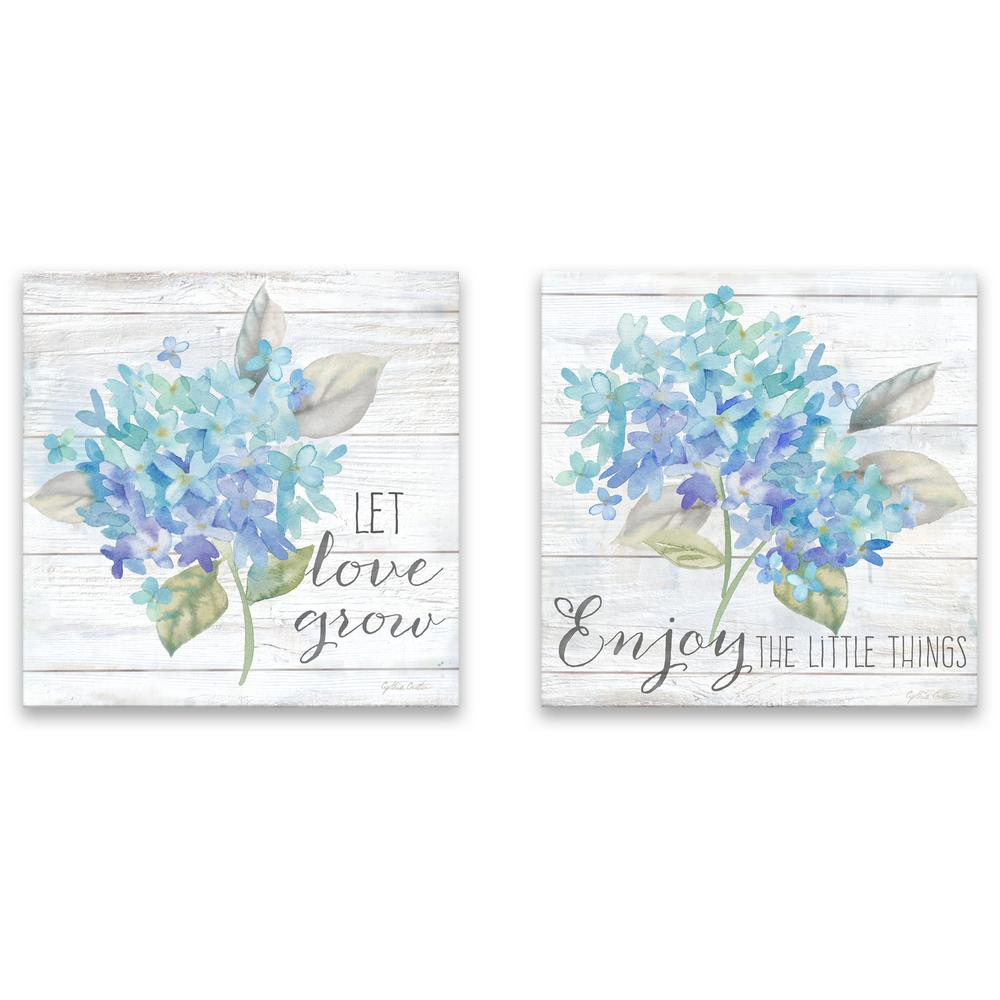 Artissimo Designs Farmhouse Hydrangea I & IIby Cynthia Coulter Canvas Wall Art (Set of 2), Other was $60.99 now $42.16 (31.0% off)