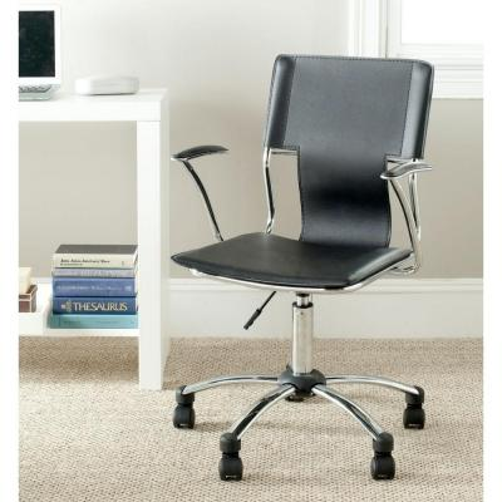 Kyler Black Leather Office Chair