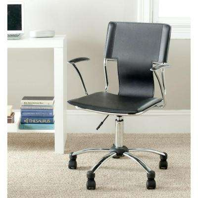 Kyler Black Leather Office Chair