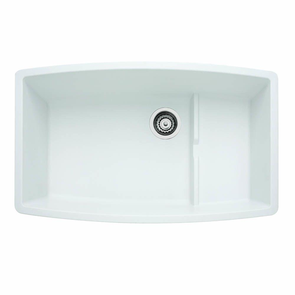 Blanco performa cascade undermount granite composite 32 in - Undermount granite composite kitchen sink ...