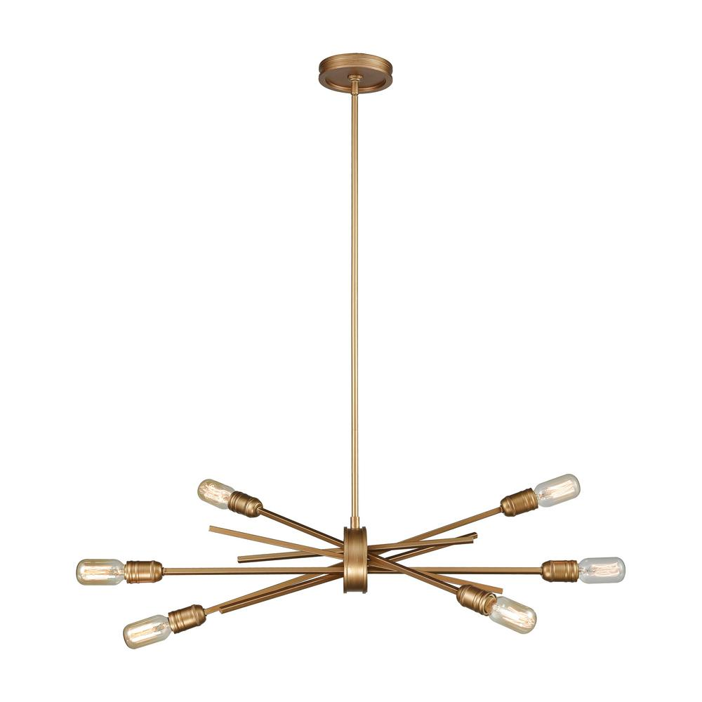Titan Lighting Xenia 6-Light Large Matte Gold Chandelier