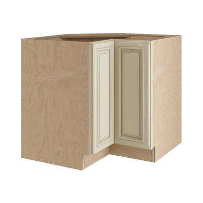 Holden Assembled 33x34.5x24 In. Easy Reach Hinge Left Base Kitchen Corner  Cabinet In