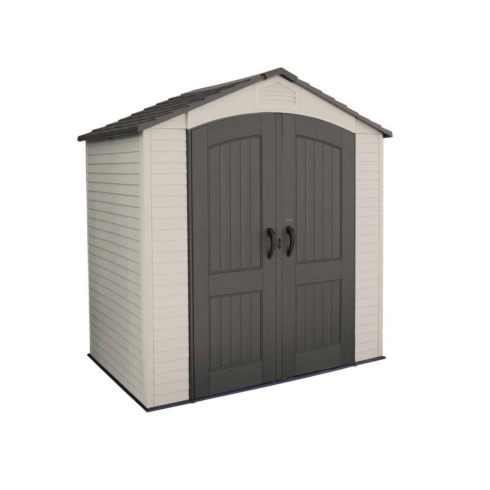 rubbermaid big max 7 ft 1 in x 7 ft 2 in resin storage shed 1887154 the home depot - Garden Sheds 7x7