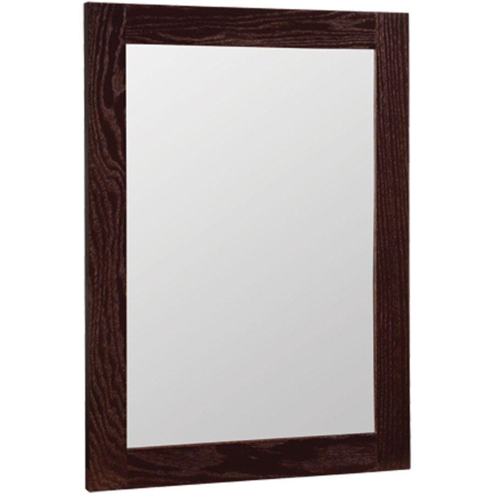 Glacier Bay Renditions 18 In X 24 W Framed Vanity Mirror Java