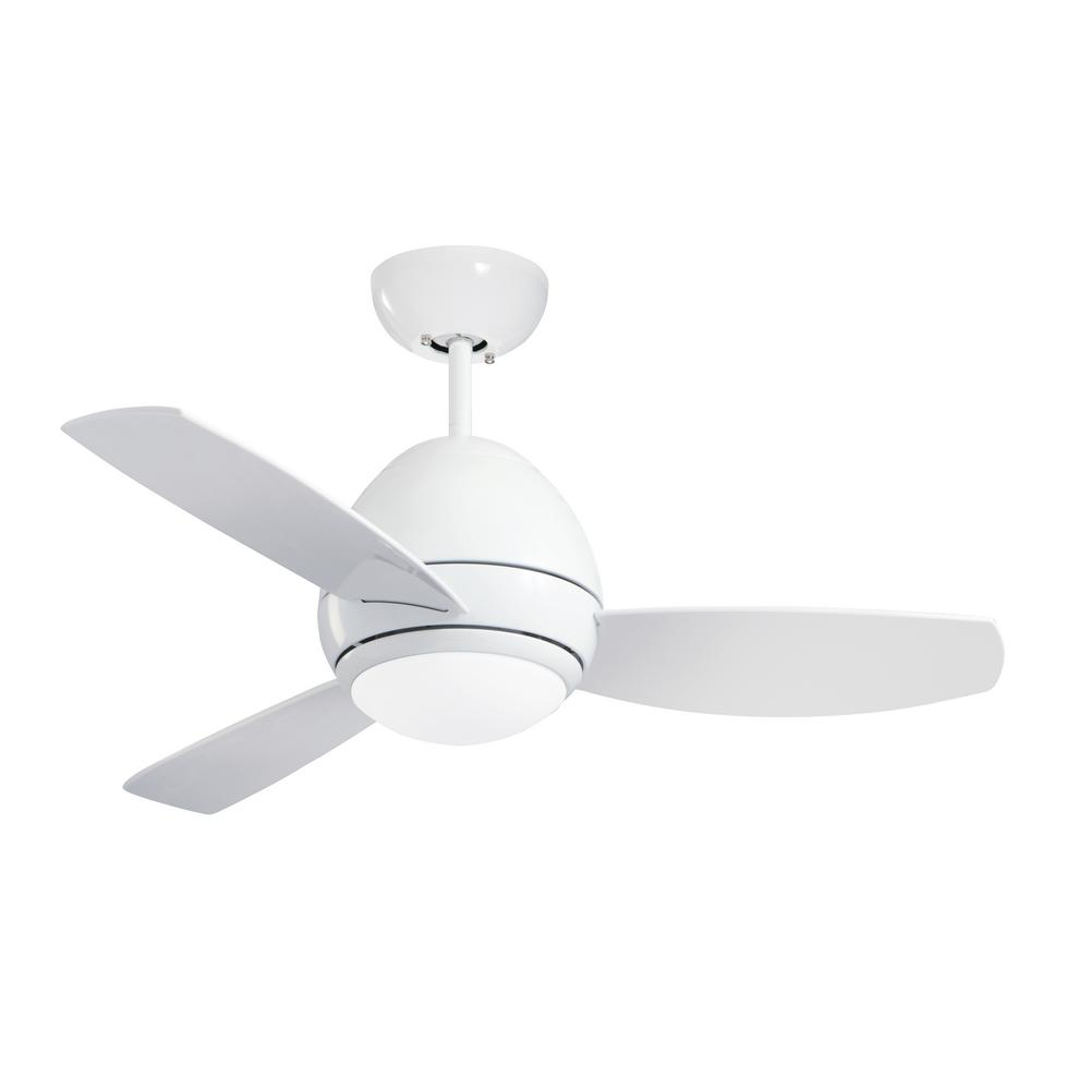 Curva 44 in. Indoor/Outdoor Appliance White Ceiling Fan