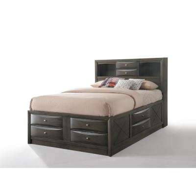 Ireland Gray Oak Storage Queen Bed