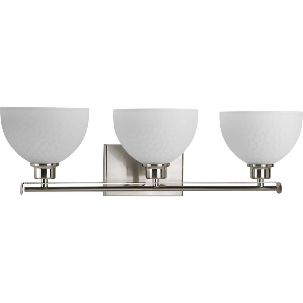 Legend Collection 3-Light Brushed Nickel Bath Light